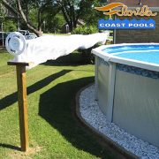 DYI solar pool cover reel for Florida above ground pools.