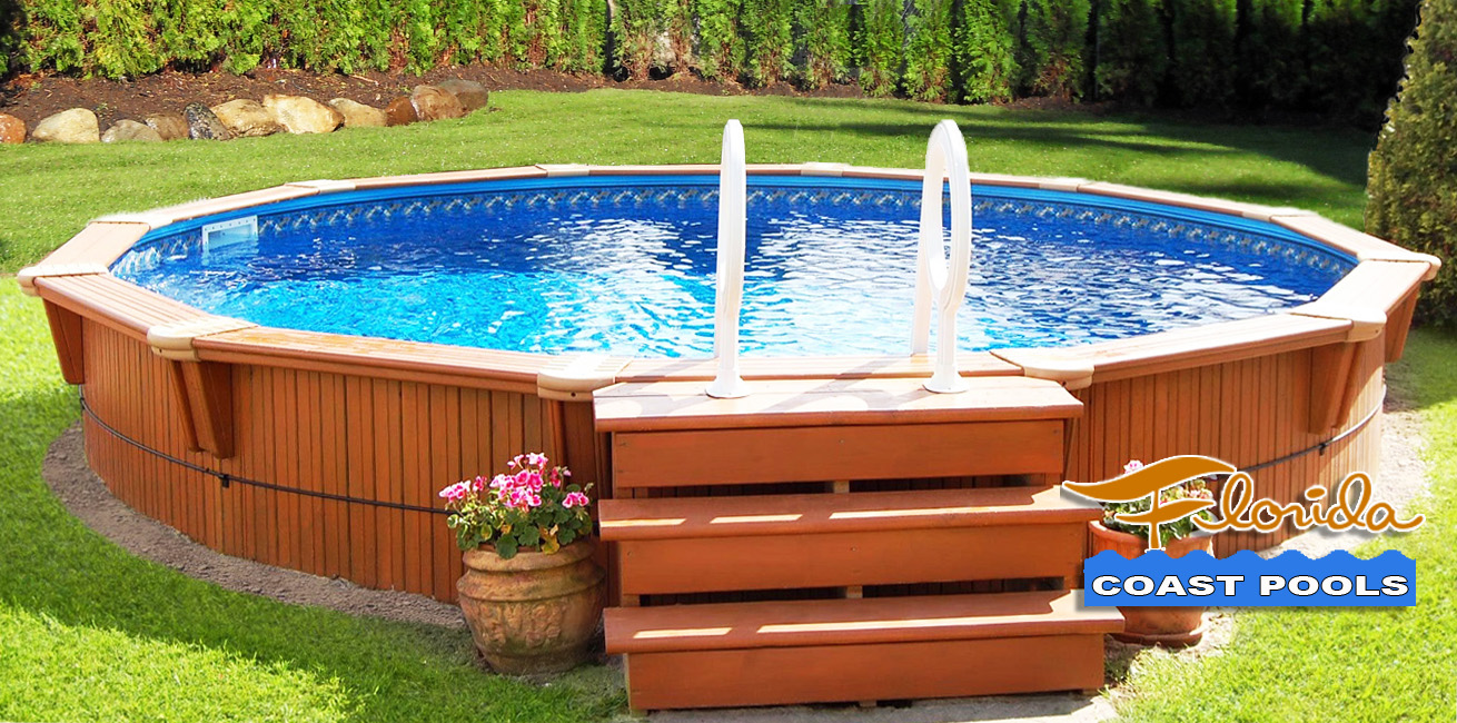 Above ground pool dealers central florida round designs for Above ground pool decks orlando