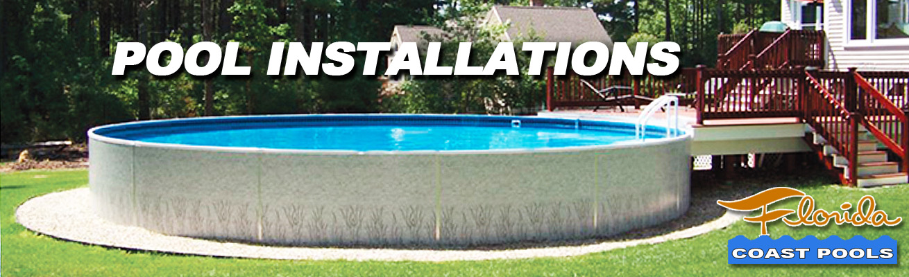 Florida above ground pools installed near melbourne fl for Installing pool liner in cold weather