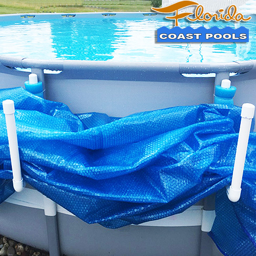 Solar pool cover hooks for Florida above ground pools.