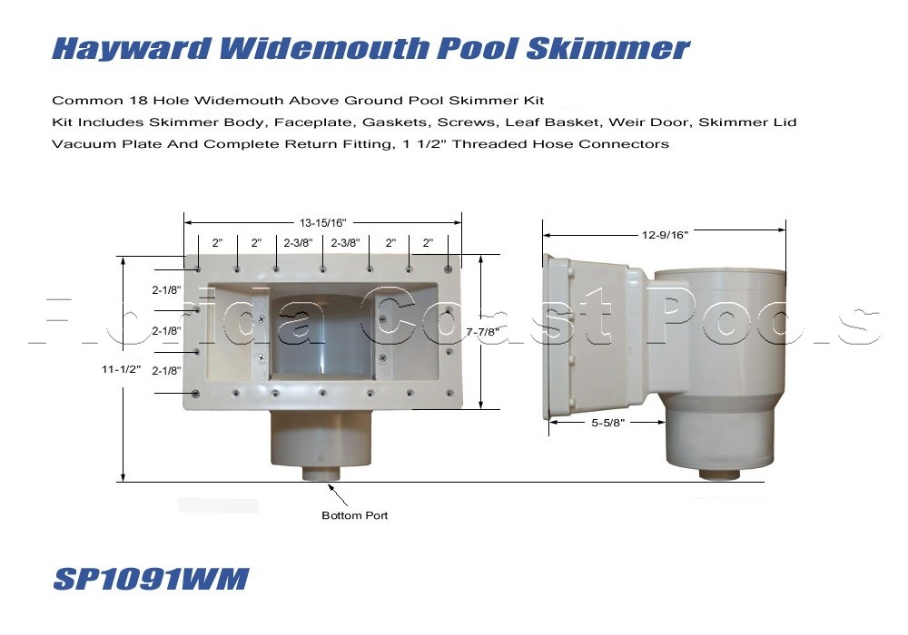 Hayward Wide-mouth Pool Skimmer For Above Ground Pools