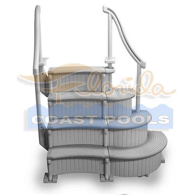 Above Ground Pool Steps Confer Curve System